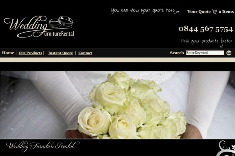 Wedding Furniture Rental